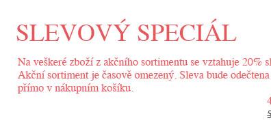 Slevový speciál