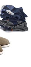 Ponožky, šedý melír a proužky v kombinaci šedého melíru a námořnicky modré