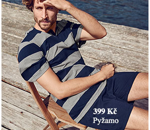 Krátké pyžamo pruhované