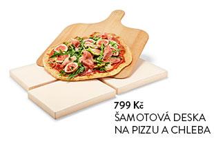 Šamotová deska na pizzu a chleba
