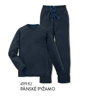 Pánské pyžamo černé