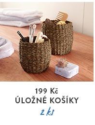 Úložné košíky z mořské trávy, 2 ks