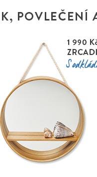 Zrcadlo v dýhovém rámu