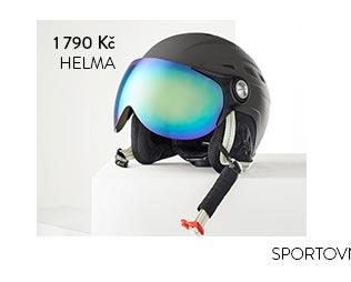Lyžařská a snowboardová helma s odnímatelným štítkem