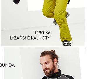 Lyžařské kalhoty žluté