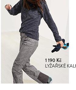 Lyžařské a snowboardistické kalhoty šedé