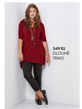 Douhé triko dámské červené