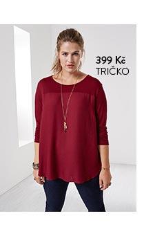 Tričko dámské červené