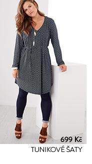 Tunikové šaty šedé s potiskem