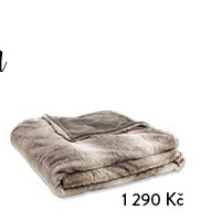Oboustranná deka hnědá