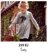Dětské šaty z teplákoviny
