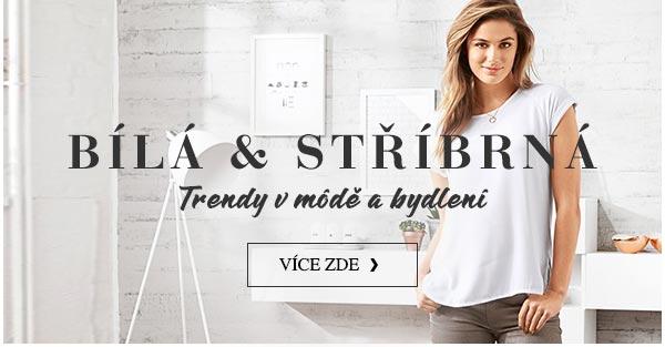 Bílá a stříbrná - trendy v módě a bydlení