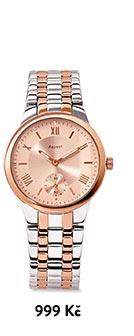 Náramkové hodinky z ušlechtilé oceli v dvoubarevném vzhledu, zdobené kamínky Swarovski®
