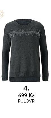 Pletený pulovr s pajetkami