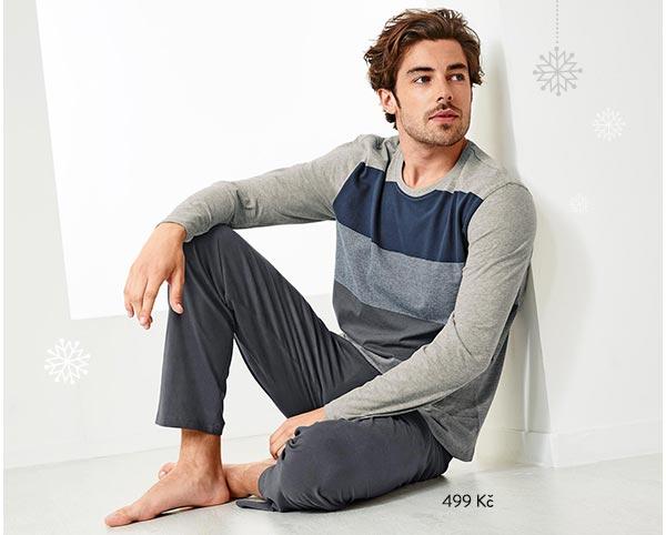 Pyžamo šedé