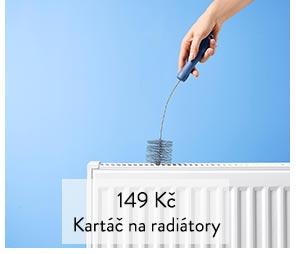 Kartáč na radiatory