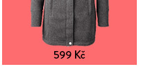 Kabát z pleteného fleecu, šedý s melírem