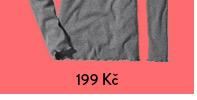 Tričko z žebrované pleteniny s biobavlnou, šedé s melírem