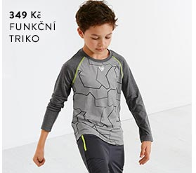 Chlapecké funkční triko s dlouhým rukávem
