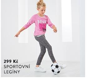 Dívčí sportovní legíny