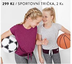 Dívčí sportovní trička, 2 ks
