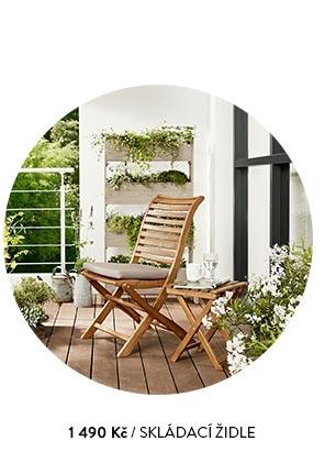 Skládací židle dřevěná