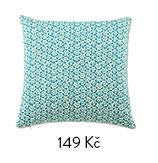 Povlak na polštářek modrý