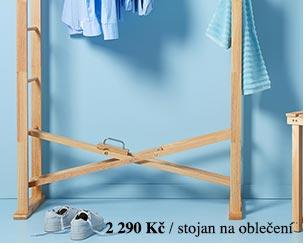 Skládací stojan na oblečení z masivního dřeva