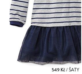 Mikinové šaty s tylovou sukní