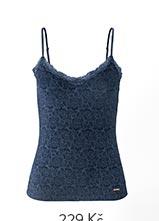 Košilka s krajkou modrá
