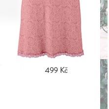 Noční košile s krajkou růžová