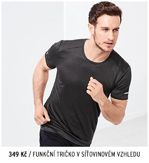 Funkční tričko v síťovinovém vzhledu
