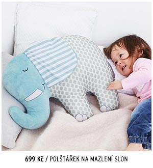 Polštářek na mazlení Slon