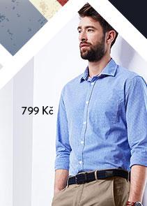 Košile z dvojité příze se žraločím límečkem