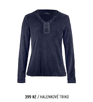 Halenkové tričko modré