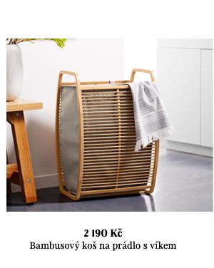 Bambusový koš na prádlo s víkem