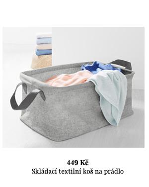 Skládací textilní koš na prádlo