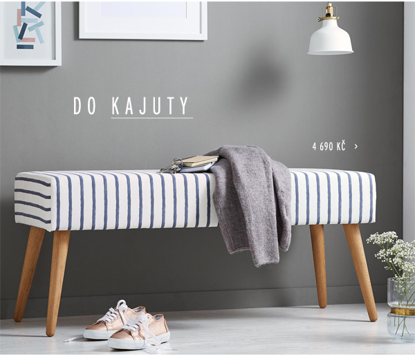 Polstrovaná lavice