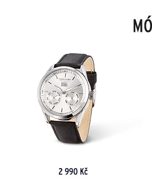 Automatické hodinky s koženým řemínkem