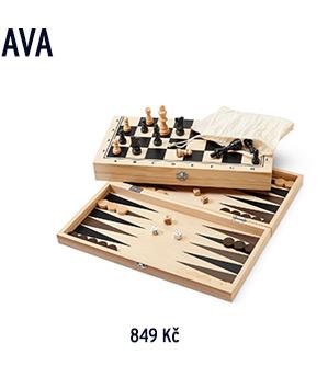 Hra »Backgammon, dáma & šachy« 3 v 1