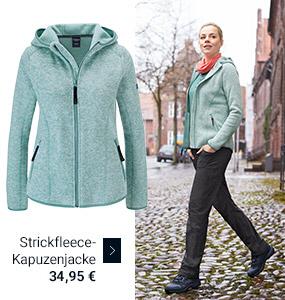 Strickfleece-Kapuzenjacke 34,95 €